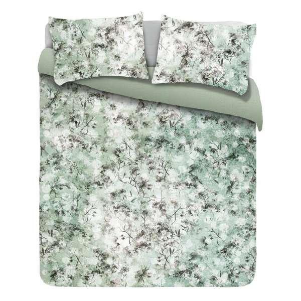 Kayori Baumwoll Satin Bettwäsche Uchi Größe 135x200 cm Farbe grün