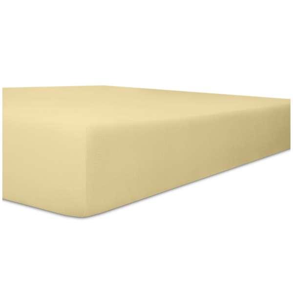 Kneer Nicky-Velour Spannbetttuch für Matratzen bis 22 cm Höhe Qualität 95 Farbe kiesel