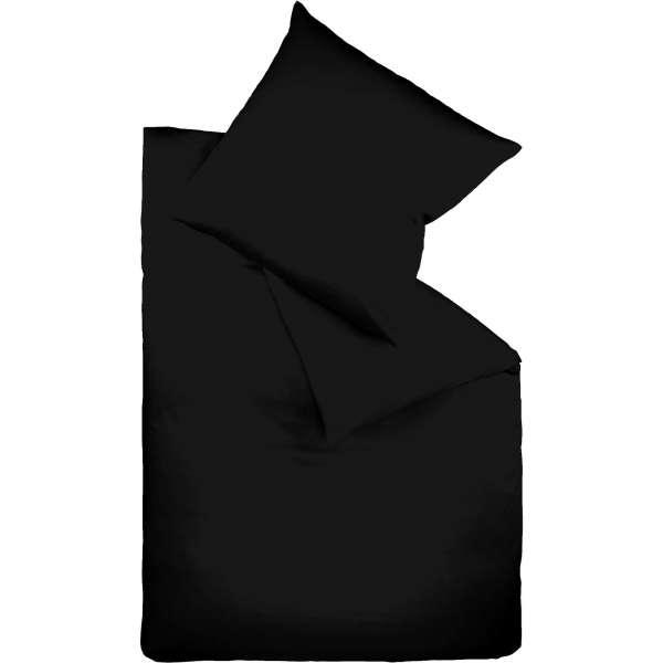 Fleuresse Mako-Satin-Bettwäsche colours schwarz 941