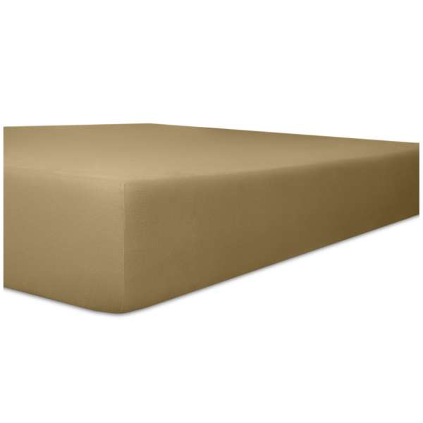 Kneer Superior-Stretch Spannbetttuch 2N1 mit 2 verschiedenen Liegeflächen Qualität 98 Farbe toffee