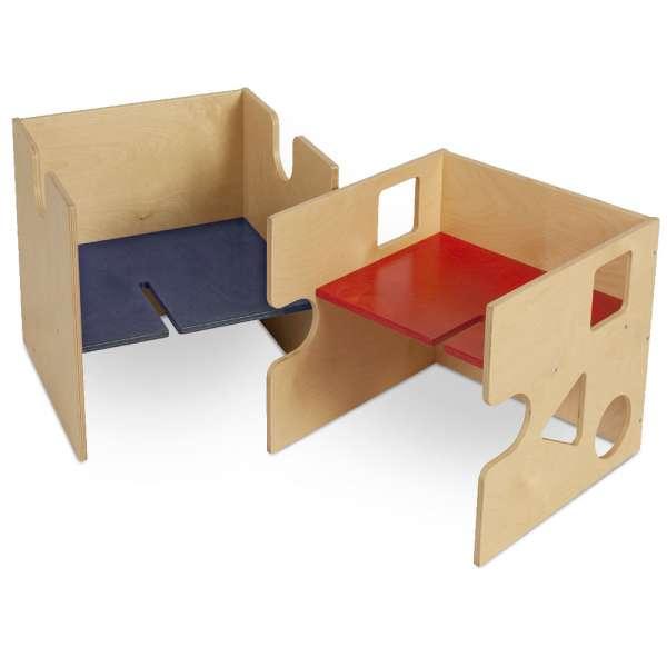 babycube, Spielwürfel, Sitzwürfel natur lackiert