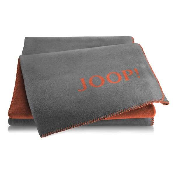 JOOP Wohndecke Uni-Doubleface Größe 150x200 cm Flannel-Rooibos