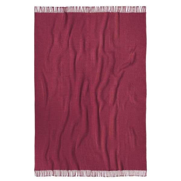 Tom Tailor Pique-Decke 150x200 cm Wohndecke Farbe Barolo