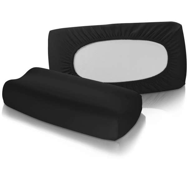 Fleuresse Vital-Comfort Jersey-Bezug für Nackenstützkissen schwarz