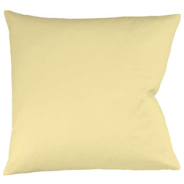 Fleuresse Interlock-Jersey-Kissenbezug uni colours vanille 215