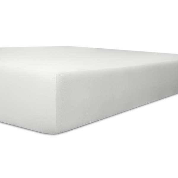 Kneer Vario Stretch Spannbetttuch Qualität 22 für Topper one weiss 220x220 cm