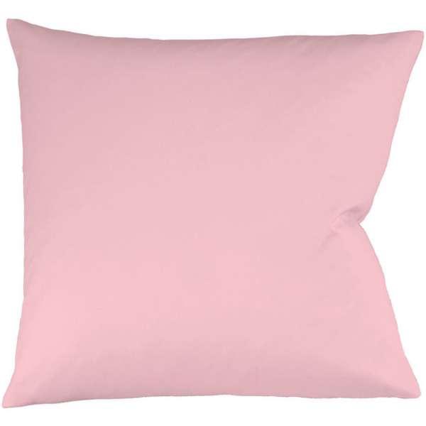 Fleuresse Interlock-Jersey-Kissenbezug uni colours rose 4040