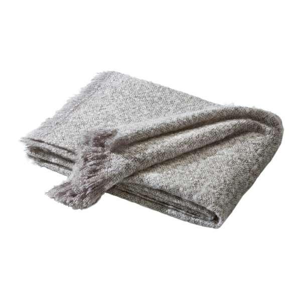 Biederlack Wohndecke Structures - Senses grey, Größe 130x180 cm