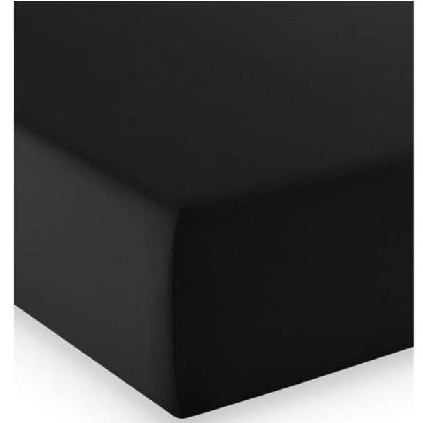 Fleuresse Mako-Jersey-Spannlaken comfort Farbe schwarz 941