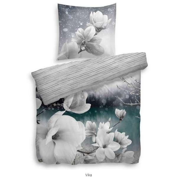 Heckett Lane Pure Cotton Bettwäsche Vika 155x220 Cm Grau