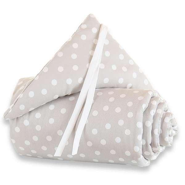 babybay Nestchen Piqué für Maxi, Boxspring und Comfort, perlgrau Punkte weiß