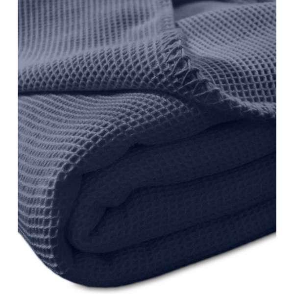 Kneer la Diva Pique Decke Qualität 91, Farbe marine, Größe 150x210 cm