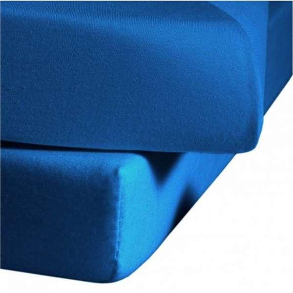 Fleuresse Mako-Jersey-Spannlaken Jenny C Farbe meeresblau 6072