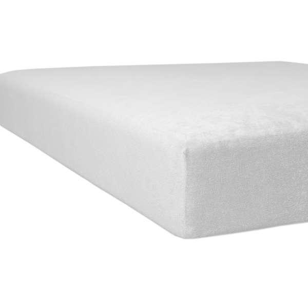 Kneer Flausch-Biber Spannbetttuch für Matratzen bis 22 cm Höhe Qualität 80 Farbe weiß