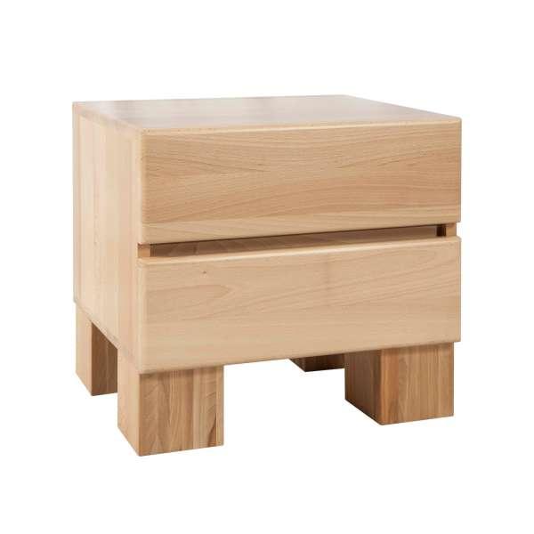 Bed Box Nachttisch Beistelltisch Massivholz Wildeiche Komforthöhe