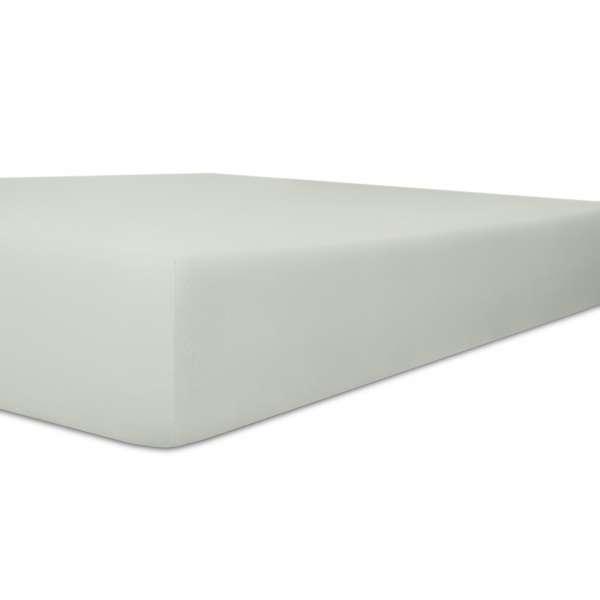 Kneer Exclusiv Stretch Spannbetttuch Qualität 93, platin, 90-100x190-220 cm