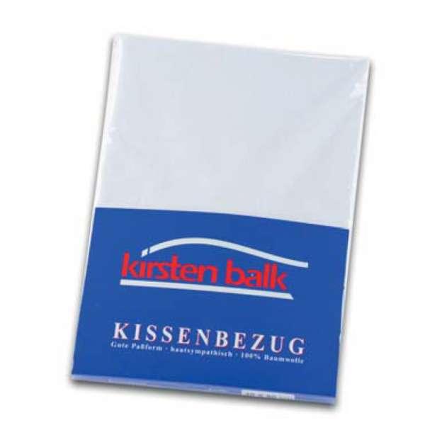 Kirsten Balk Kissenbezug Single-Jersey, Größe 80x80 cm, weiß