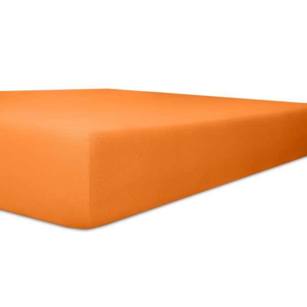 Kneer Vario Stretch Spannbetttuch Qualität 22 für Topper one orange 200x200 cm