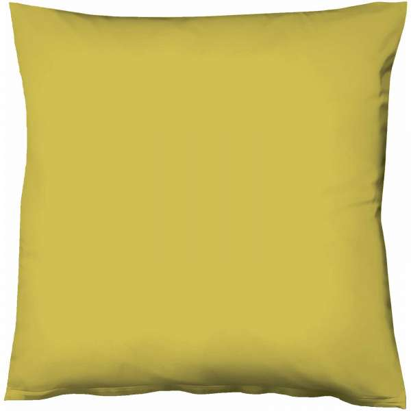 Fleuresse Mako-Satin-Kissenbezug uni colours oliv 7049