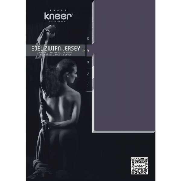 Kneer Edel-Zwirn-Jersey Kissenbezug Q20 Farbe schiefer Größe 40x80 cm