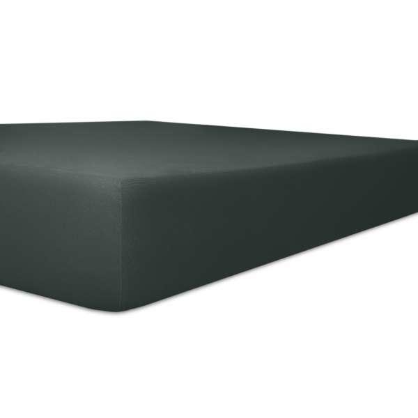 Kneer Vario Stretch Spannbetttuch Qualität 22 für Topper one schwarz 200x200 cm