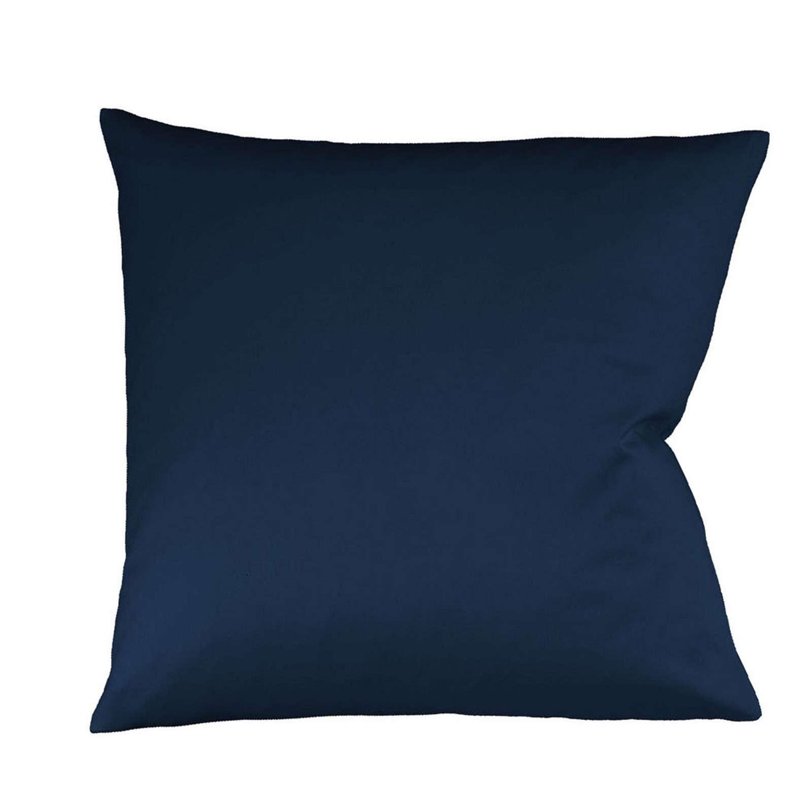 Fleuresse Mako Satin Kissenbezug Uni Colours Nachtblau 6544 Größe