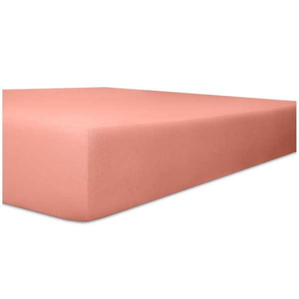 Kneer Easy Stretch Spannbetttuch für Matratzen bis 30 cm Höhe Qualität 25 Farbe altrosa