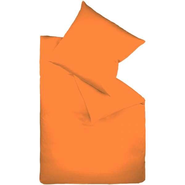 Fleuresse Mako-Satin-Bettwäsche colours Farbe orange 2044 Größe 135x200