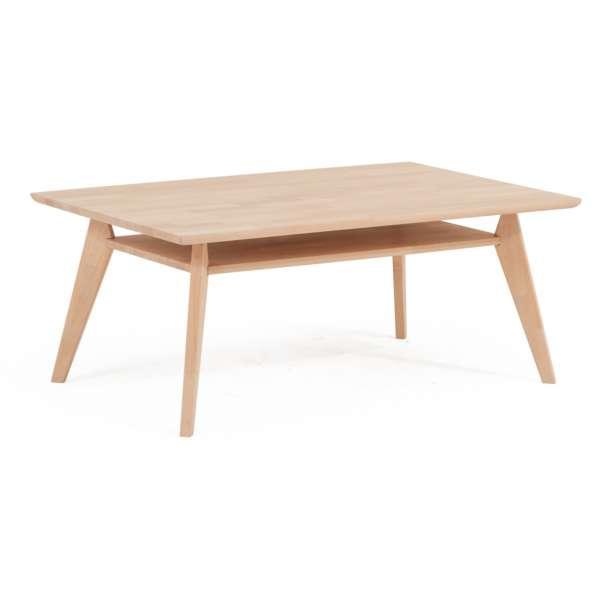 DICO Möbel Couchtisch CT 90 Massivholz Buche/Wildeiche Größe 110x70 cm