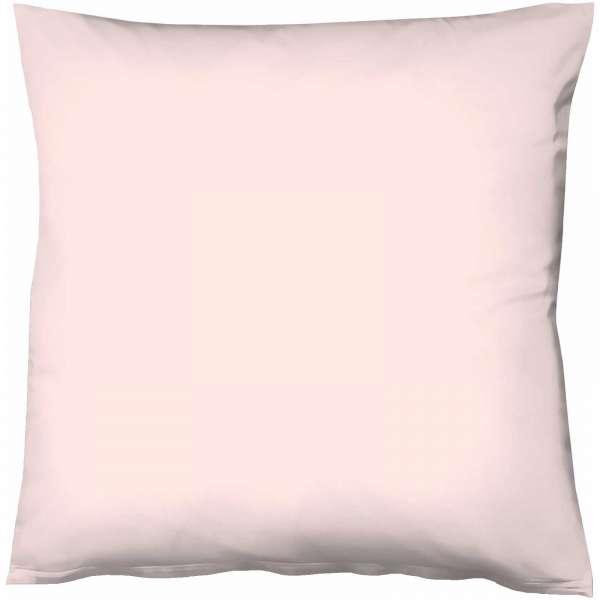 Fleuresse Mako-Satin-Kissenbezug uni colours rose 4040