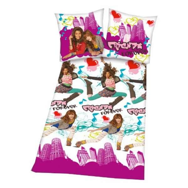 Herding Flanell Kinderbettwäsche Friends forever - Shake it up Größe 135x200 cm