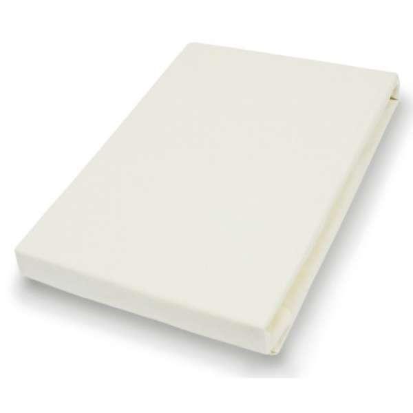 Hahn Haustextilien Jersey-Spannlaken Basic Größe 90-100x200 cm Farbe ecru