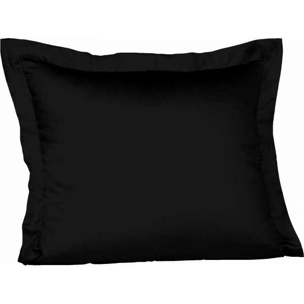 Fleuresse Mako-Satin-Kissenbezug uni colours 941 schwarz 35x40 cm