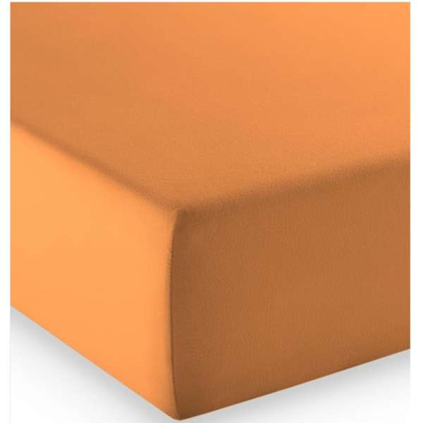Fleuresse Mako-Jersey-Spannlaken comfort Farbe orange 2044