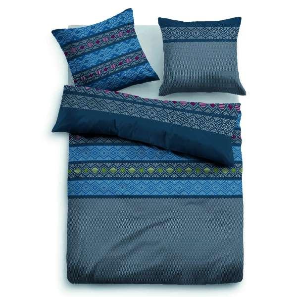 Tom Tailor Flanell-Bettwäsche 9593-824 blau 200x200 cm