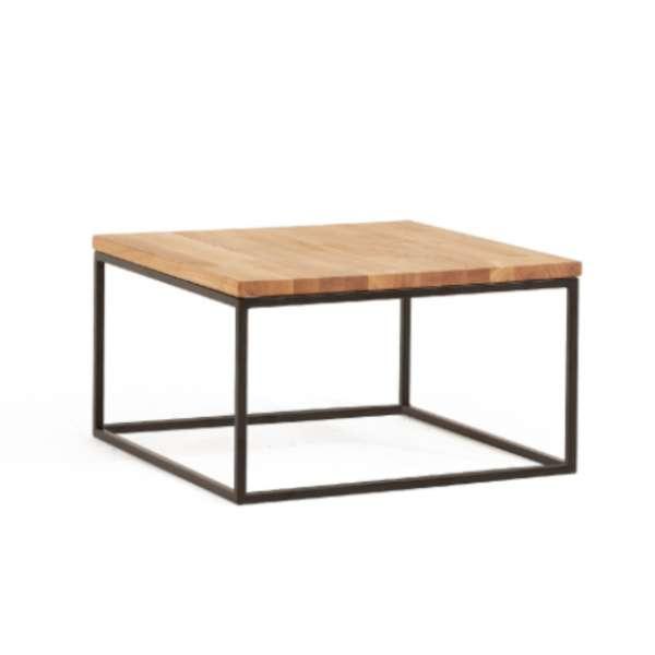 DICO Möbel Beistelltisch CT 91 Massivholz Wildeiche Größe 80x80 cm