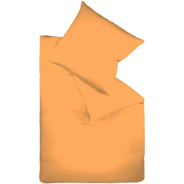 Fleuresse Mako-Satin-Bettwäsche colours Farbe gold 2046