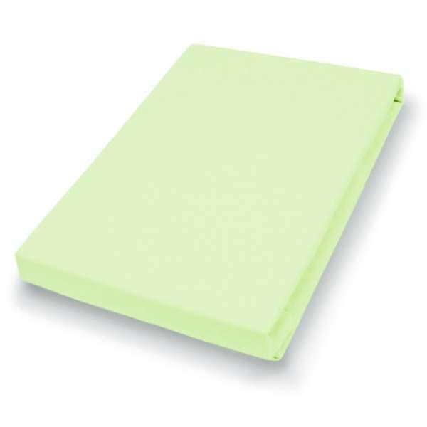 Hahn Haustextilien Jersey-Spannlaken Basic Größe 90-100x200 cm Farbe limone