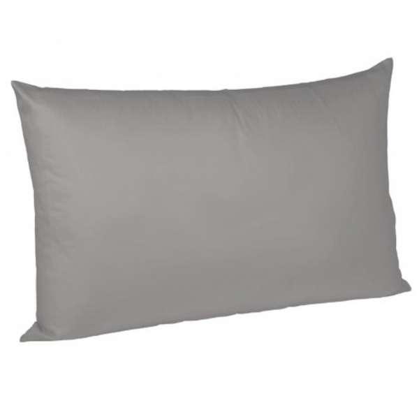Fleuresse Interlock-Jersey-Kissenbezug uni colours 9021 grau 40x40 cm