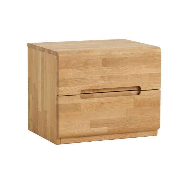 Dico Massivholz Nachttisch Komforthöhe, Wildeiche Honig geölt