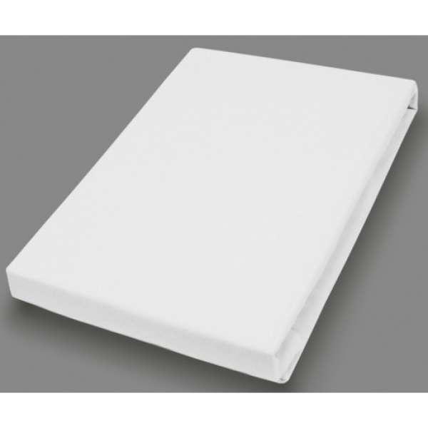 Hahn Haustextilien Elasthan-Feinjersey-Spannlaken Royal 180-200x200-220 cm weiß