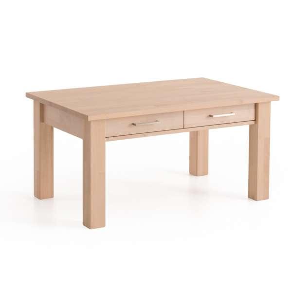 DICO Möbel Couchtisch CS 130 Massivholz Buche/Wildeiche Größe 110x70 cm mit Schublade