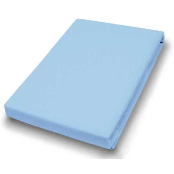 Hahn Haustextilien Jersey-Spannlaken Basic Größe 140-160x200 cm Farbe aqua