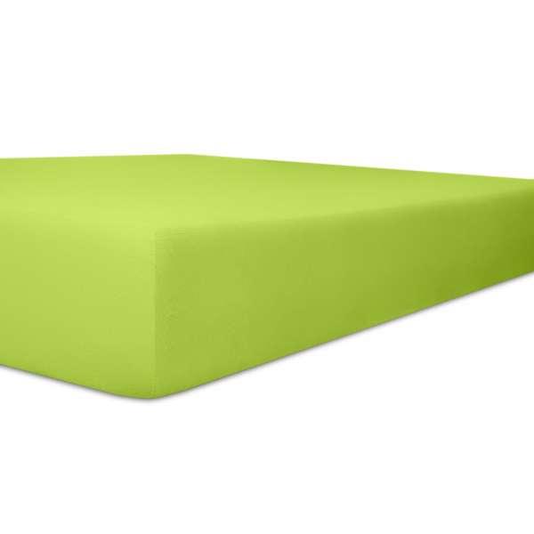 Kneer Vario Stretch Spannbetttuch Qualität 22 für Topper one limone 100x200 cm