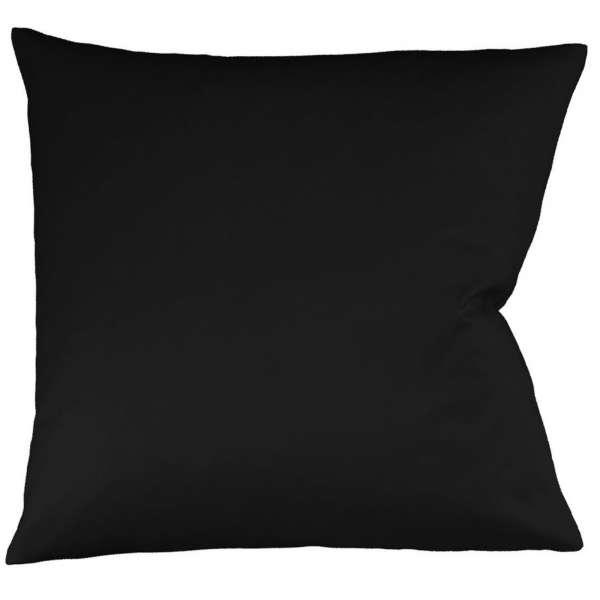 Fleuresse Interlock-Jersey-Kissenbezug uni colours schwarz 941