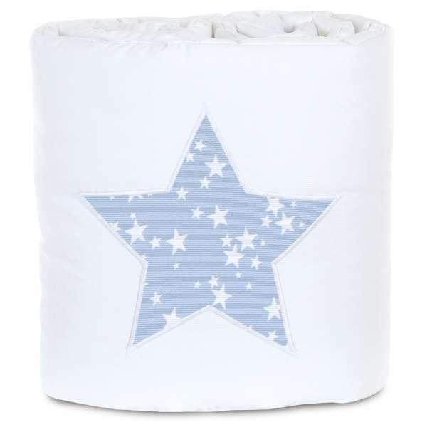 babybay Nestchen Piqué passend für Modell Boxspring XXL, weiß Applikation Stern azurblau
