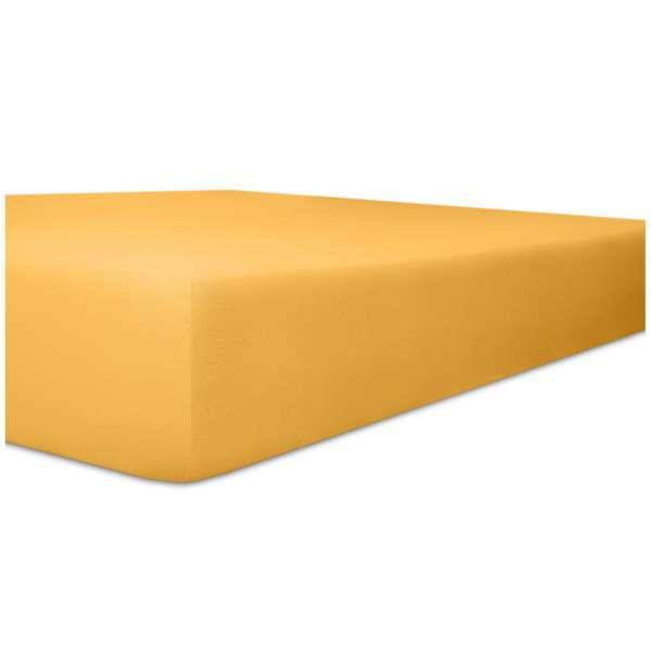 Kneer Vario-Stretch Spannbetttuch oneflex für Topper 4-12 cm Höhe Qualität 22 Farbe gelb
