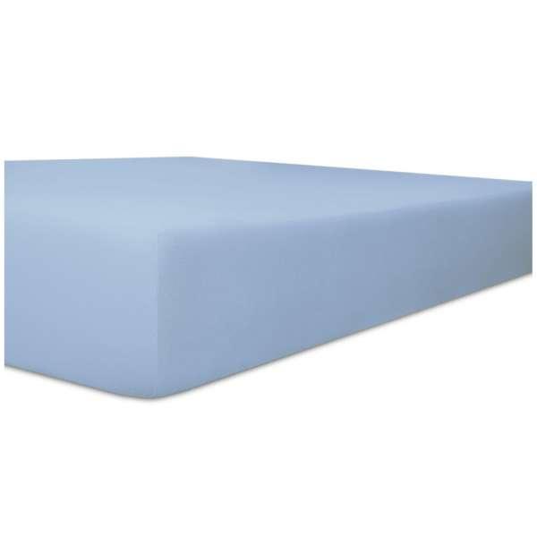 Kneer Vario-Stretch Spannbetttuch one für Topper 4-12 cm Höhe Qualität 22 Farbe eisblau