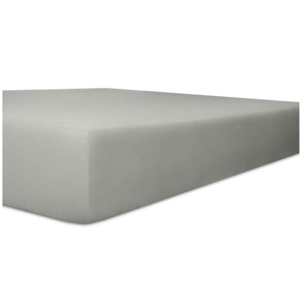 Kneer Edel-Zwirn-Jersey Spannbetttuch für Matratzen bis 22 cm Höhe Qualität 20 Farbe schiefer