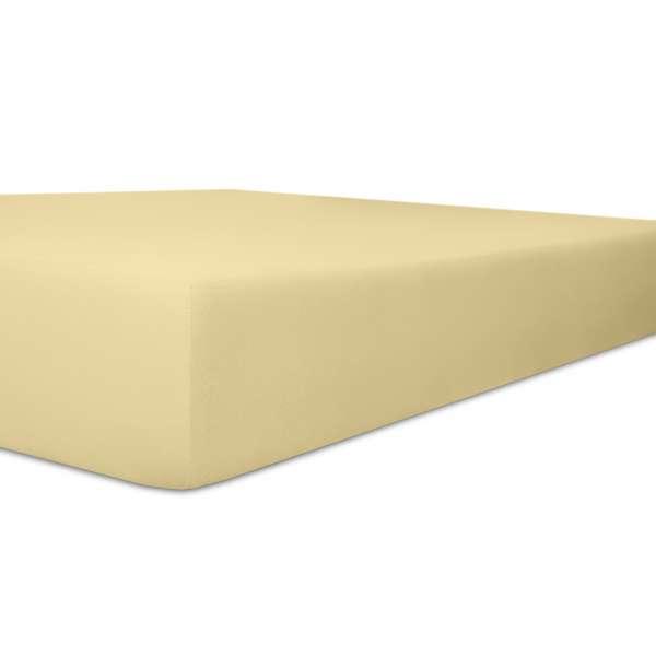 Kneer Exclusiv Stretch Spannbetttuch für hohe Matratzen & Wasserbetten Qualität 93, kiesel, 90-100x1